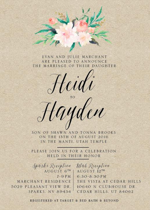 Wedding Invitations Utah