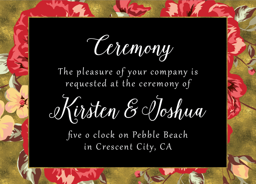 Ceremony-Front Wedding Invitations