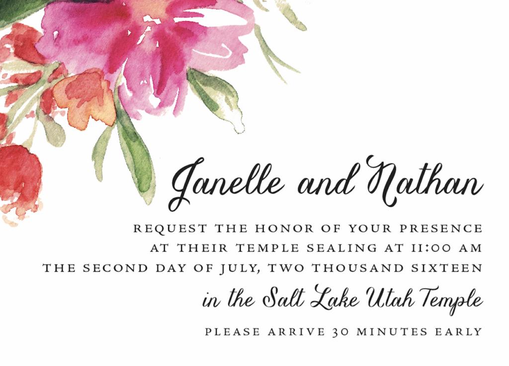 janelle sealfront Wedding Invite