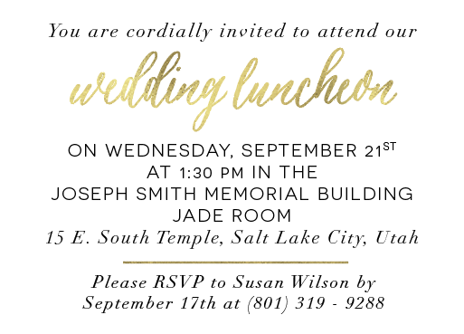 TarahLuncheonFront Wedding Invitations