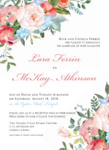 McKay-Atkinson-Front Wedding Invitations