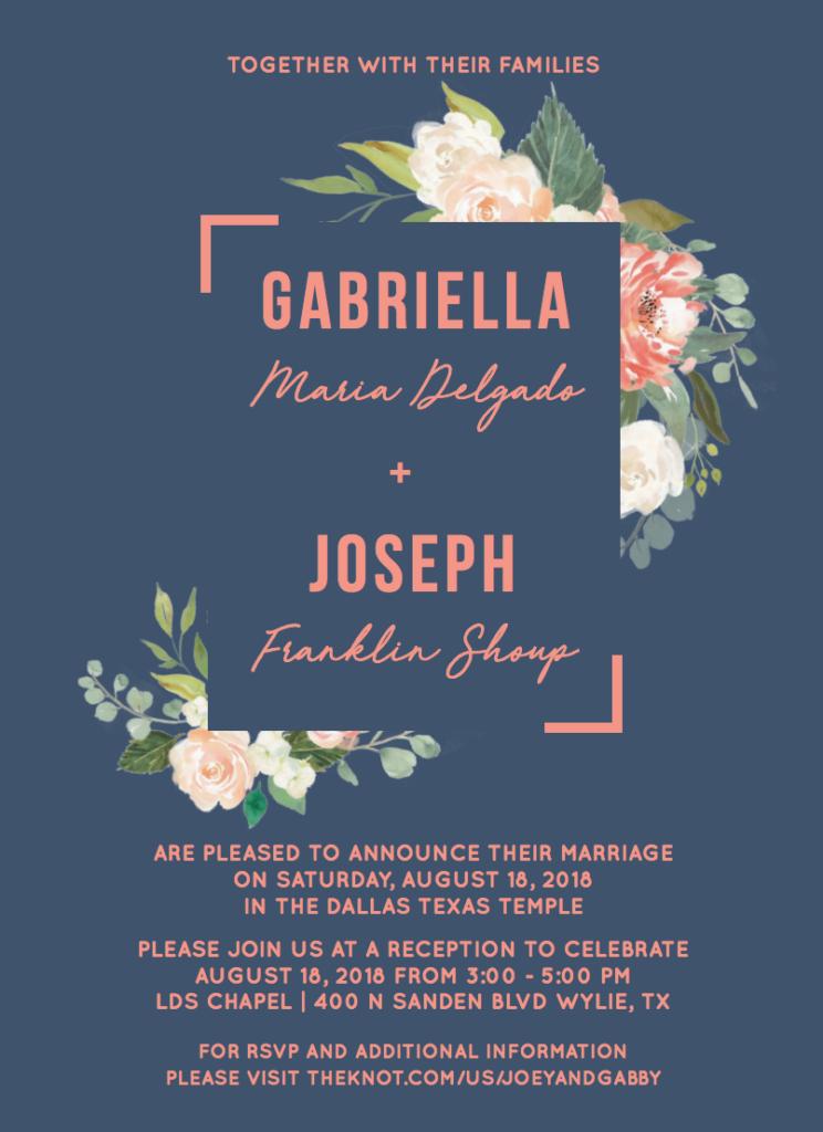 Gabriella-invite-front Wedding Invitations