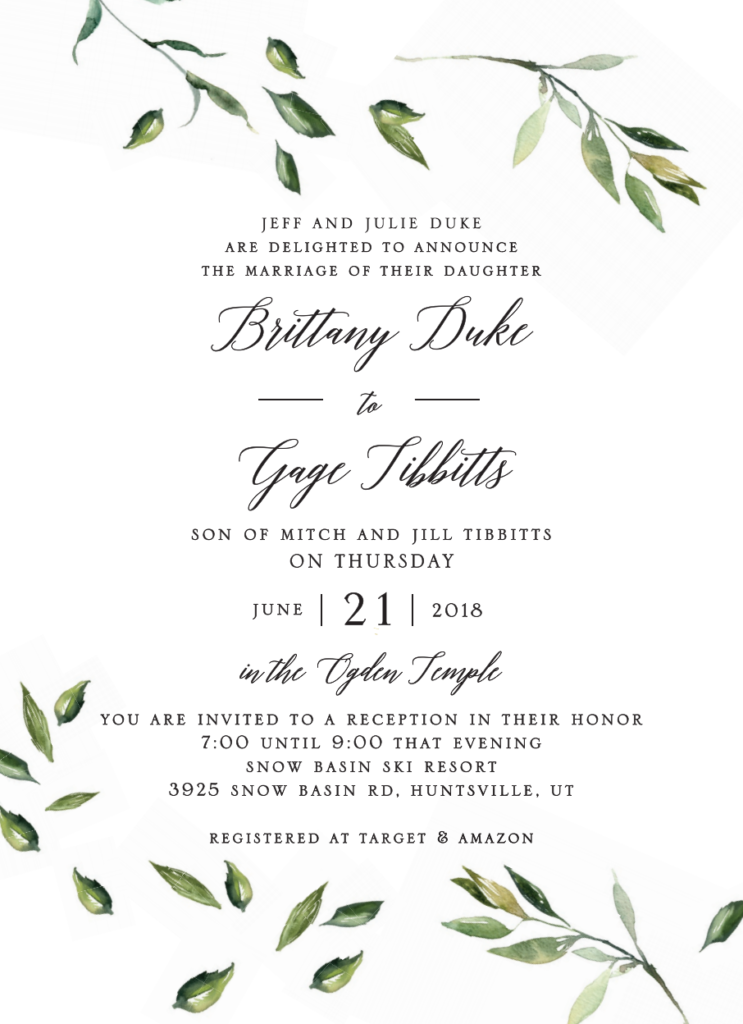 Brittany-Duke-front Wedding Announcements