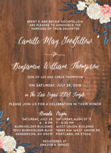 Wedding Invitations Utah