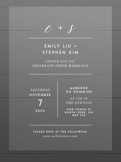 Emily & Stephen Invitations
