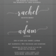 Rachel & Adam Wedding Invitations