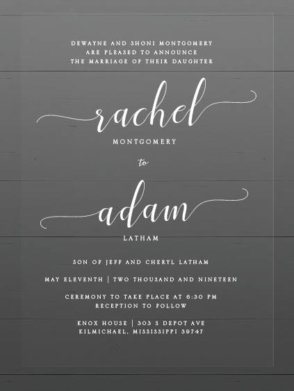 Rachel & Adam Wedding Invitations
