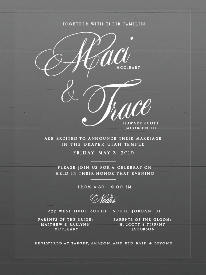 Wedding Invitations Maci & Trace