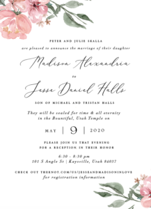 Madison&Jesse Wedding announcements