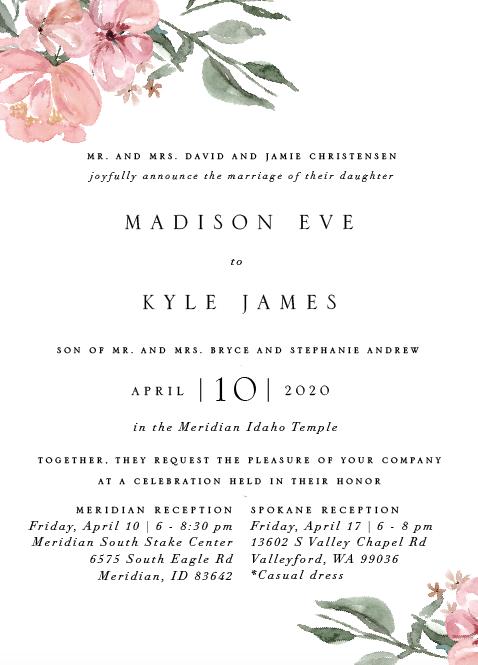Madison&Kyle Invitations