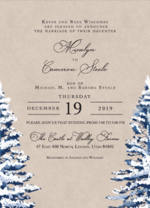Micalyn and Cameron Wedding Invitations