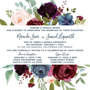 Miranda and Samuel Wedding Invitations