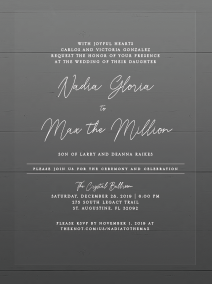 Nadia&Max Wedding Invitations