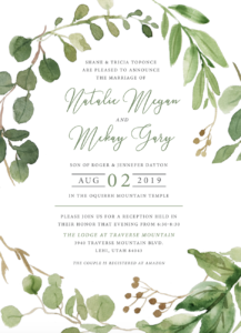Natalie and Mckay Wedding Invitations
