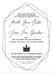 Nicole and Zane Wedding Invitations