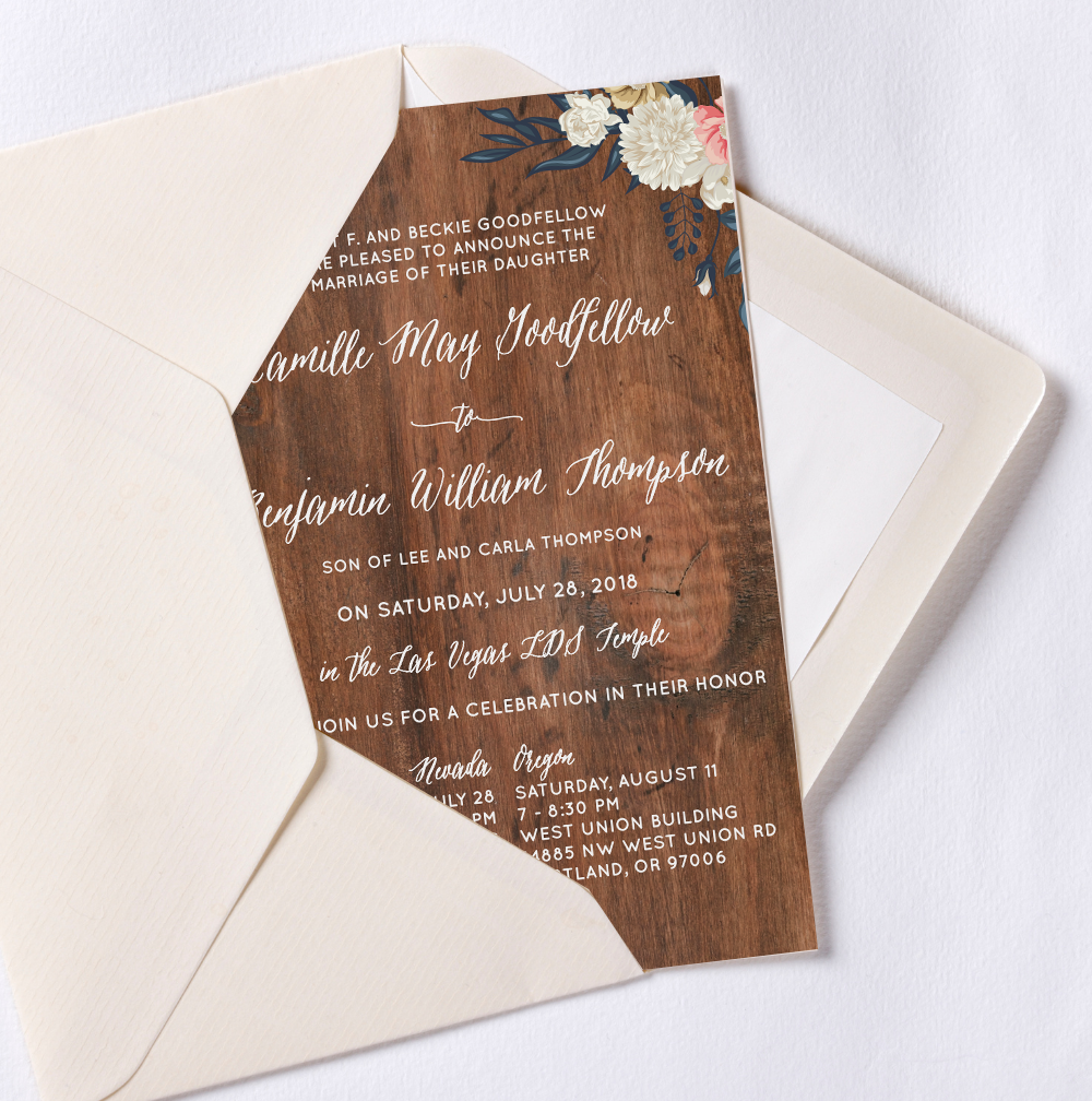 Natural Style Wedding Invitation