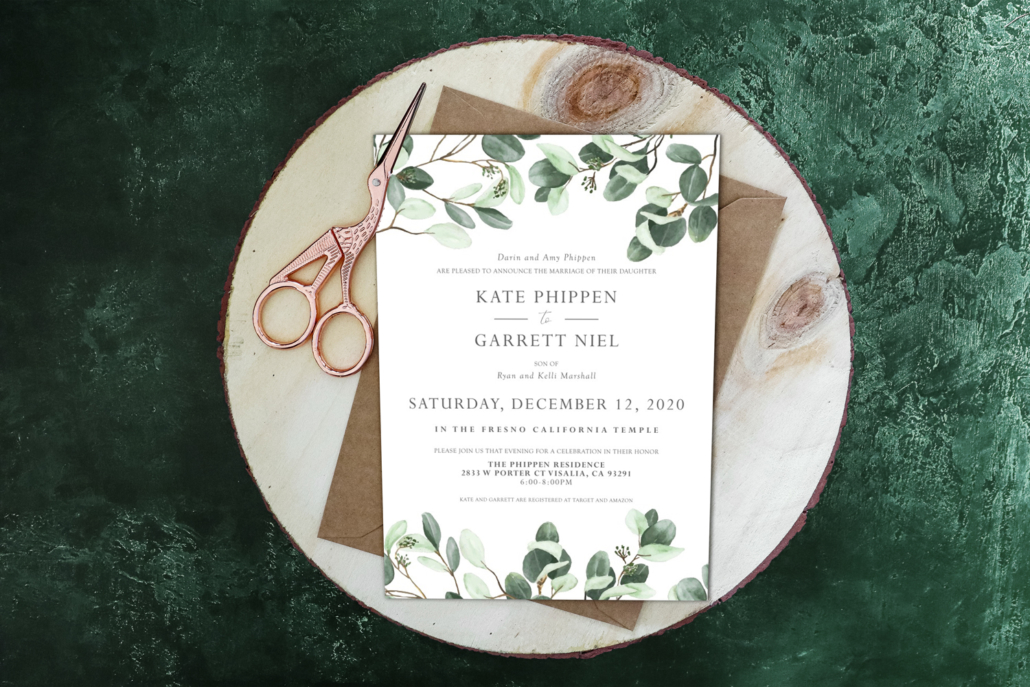 Natural Style Wedding Invitation Ideas 2021