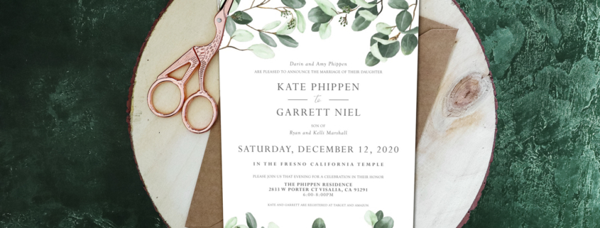 Natural Wedding Invitations | Natural Style Wedding Invitation Ideas 2021