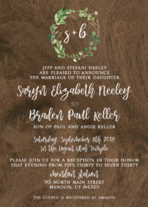 Rustic Wedding Invitations Ideas