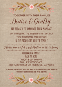 Rustic Invitations Ideas