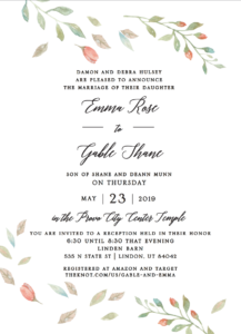 Rustic Invitations 2021