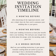 When to Send Wedding Invitations | When to Order & Mail Out your Wedding Invitations