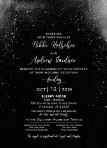 Black And White Wedding Invitation | 100% Custom Wedding Invitations